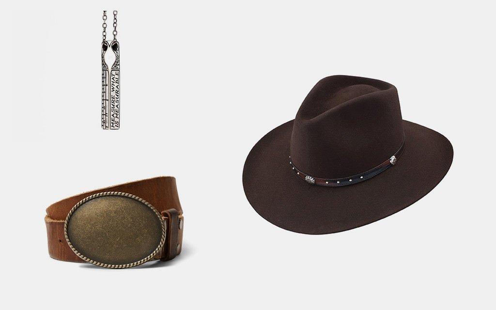 Make Measurable Pendant — Digby & Iona  5X Caprock —  Resistol   Kingsman + Statesman Belt — Jean Shop