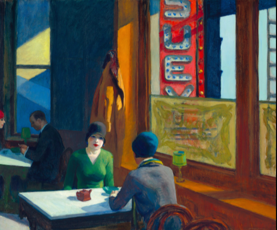 Edward Hopper's 1929 painting, Chop Suey (Photo credit: Christie's)