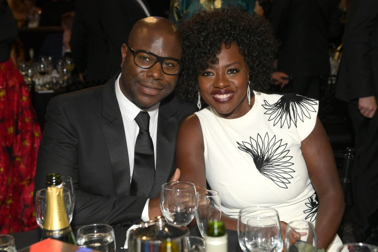 BEVERLY HILLS, CA - OCTOBER 26: Steve McQueen (L) and Viola Davis (R) attend the 2018 British Academy Britannia Awards presented by Jaguar Land Rover and American Airlines at The Beverly Hilton Hotel on October 26, 2018 in Beverly Hills, California.  (Photo by Emma McIntyre/BAFTA LA/Getty Images for BAFTA LA)