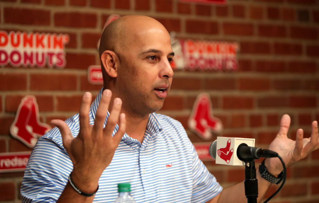BOSTON - NOVEMBER 1: Boston Red Sox manager Alex Cora speaks during a media availability at Fenway Park in Boston on Nov. 1, 2018. (Photo by Barry Chin/The Boston Globe via Getty Images)