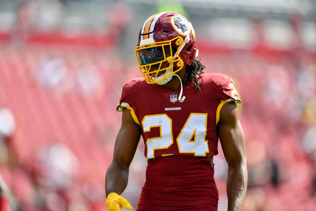 Washington Redskins cornerback Josh Norman before a game against the Tampa Bay Bucs on November 11, 2018. (Roy K. Miller/Icon Sportswire via Getty Images)