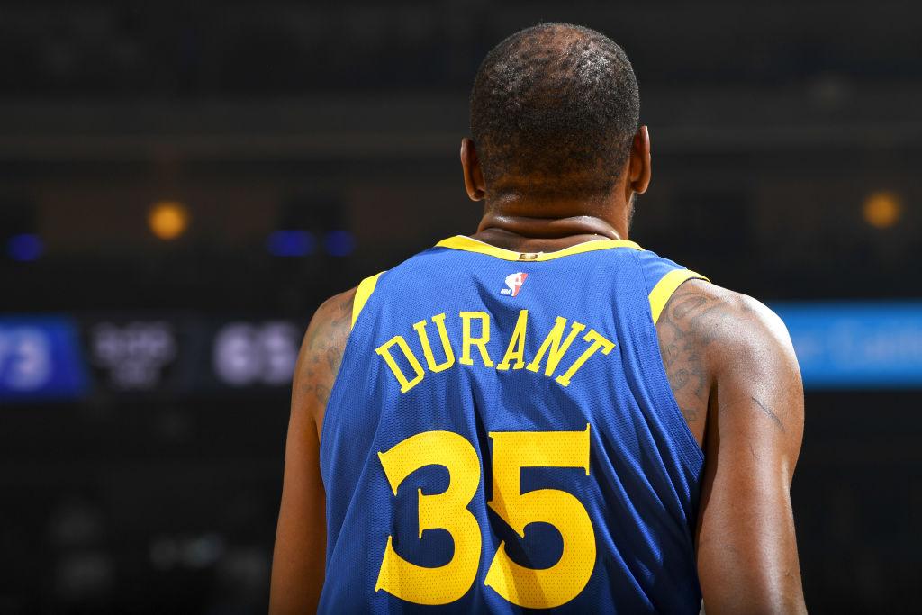 Golden State Warriors star Kevin Durant on November 13, 2018. (Noah Graham/NBAE via Getty Images)