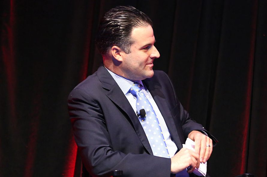 Darren Rovell speaks at the NYVC Sports Venture Series: (Paul Zimmerman/Getty Images for AWXI)