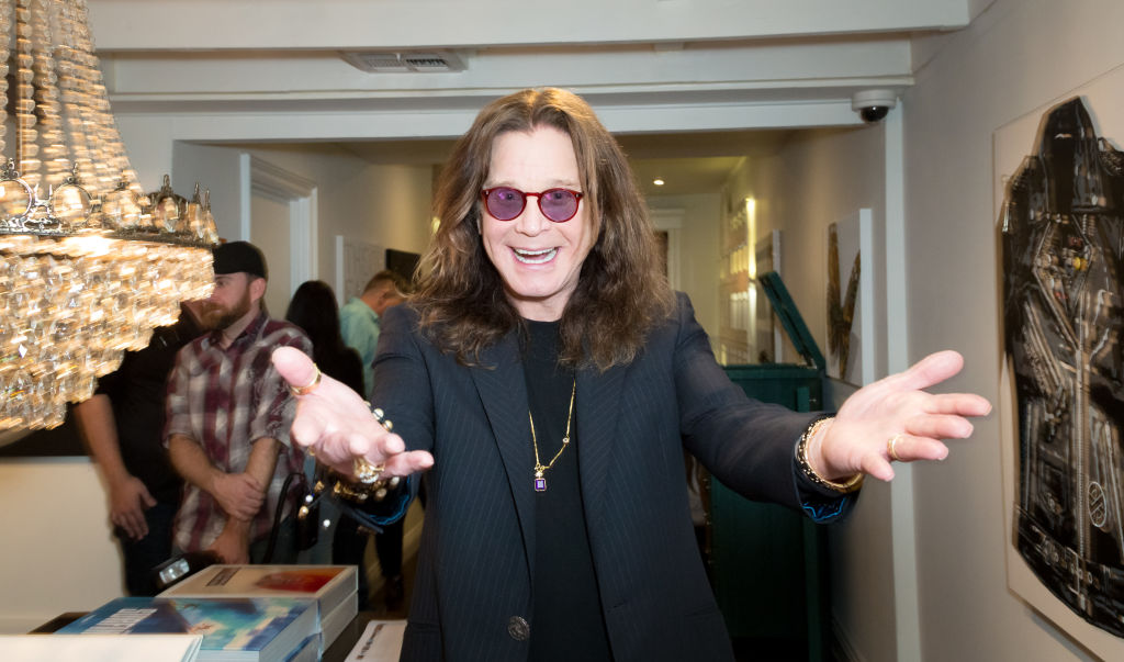 LOS ANGELES, CA - SEPTEMBER 28: (EXCLUSIVE COVERAGE) (EXCLUSIVE COVERAGE)  Singer Ozzy Osbourne attends the Billy Morrison - Aude Somnia Solo Exhibition at Elisabeth Weinstock on September 28, 2017 in Los Angeles, California.  (Photo by Greg Doherty/Getty Images)