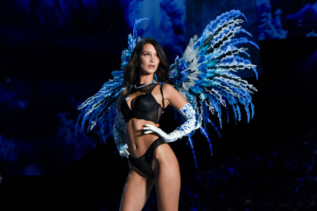 Bella Hadid attends 2017 Victoria's Secret Fashion Show In Shanghai - Show at Mercedes-Benz Arena on November 20, 2017 in Shanghai, China.  (Photo by Presley Ann/Patrick McMullan via Getty Images)