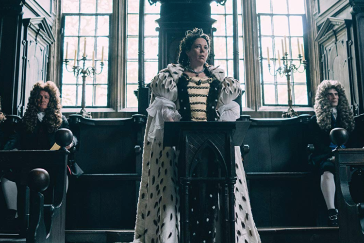 "Olivia Colman as Queen Anne in a scene from the trailer for ""The Favourite,"" presented by Fox Searchlight, Film 4 and Waypoint Entertainment."