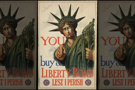A World War I poster asking people to support the war effort through Liberty Bonds. (National WWI Museum and Memorial via Fox News)