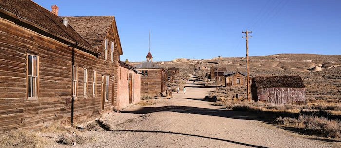 "An image of Bodie's main street from ""Abandoned Southern California: The Eras that Shaped the West"" by Joanna Kalafatis."
