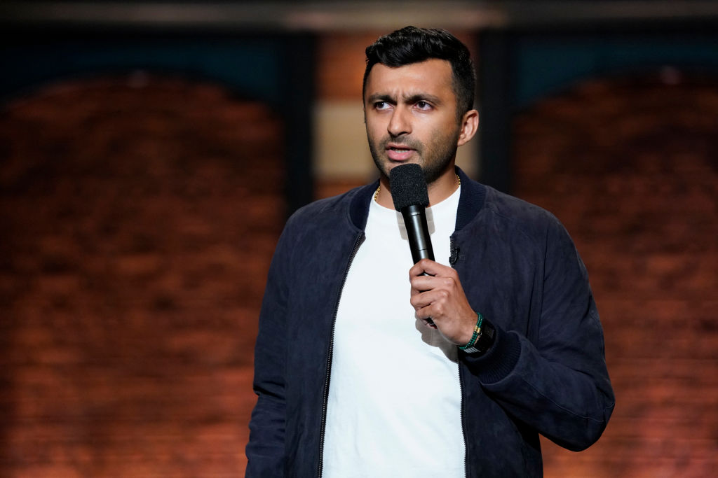 Comedian Nimesh Patel performs on July 17, 2018, on Late Night With Seth meyers (Photo by: Lloyd Bishop/NBC/NBCU Photo Bank via Getty Images)