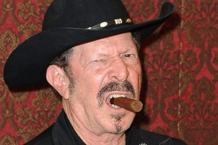 Musician/author Kinky Friedman is interviewed as SiriusXM, Willie Nelson and Austin Mayor Lee Leffingwell celebrate the launch of the new SiriusXM studio on October 12, 2012 in Austin, Texas.  (Photo by C Flanigan/Getty Images)