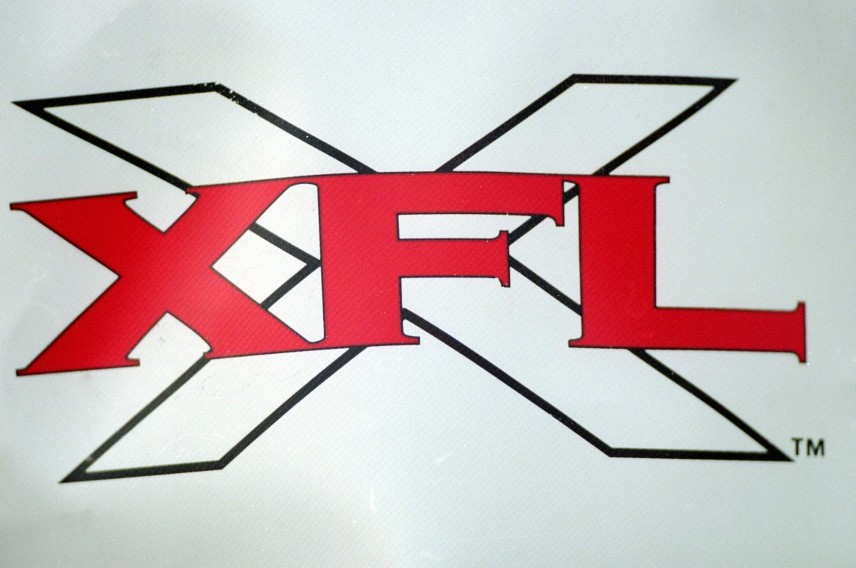 3 Feb 2001:  A view of the XFL logo sign taken during the game between the Las Vegas Outlaws and the New York/New Jersey Hitmen at the Sam Boyd Stadium in Las Vegas, Nevada. The Outlaws defeated the Hitmen 19-0.Mandatory Credit: Todd Warshaw  /Allsport