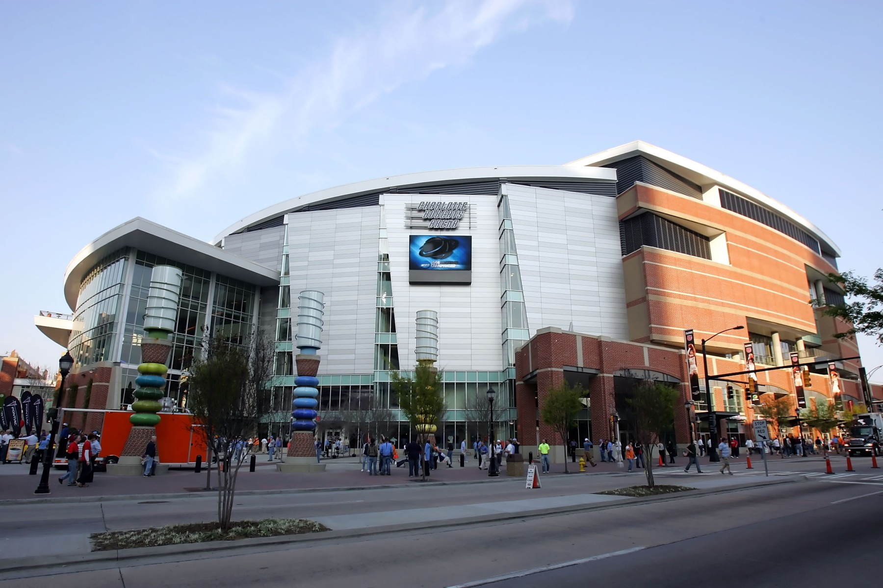 CHARLOTTE, NC - MARCH 27:  A general view of the outside of Bobcats Arena before the start of the 2008 NCAA Men's East Regional Semifinal games on March 27, 2008 in Charlotte, North Carolina.  (Photo by Streeter Lecka/Getty Images)