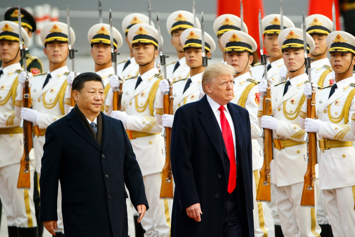 President Donald Trump and China's President Xi Jinping on November 9, 2017 in Beijing, China (Getty)