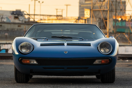 The 1971 Lamborghini Miura P400 SV by Bertone which is being sold by RM Sotheby's at the Petersen Automotive Museum Auction. (RM Sotheby's)