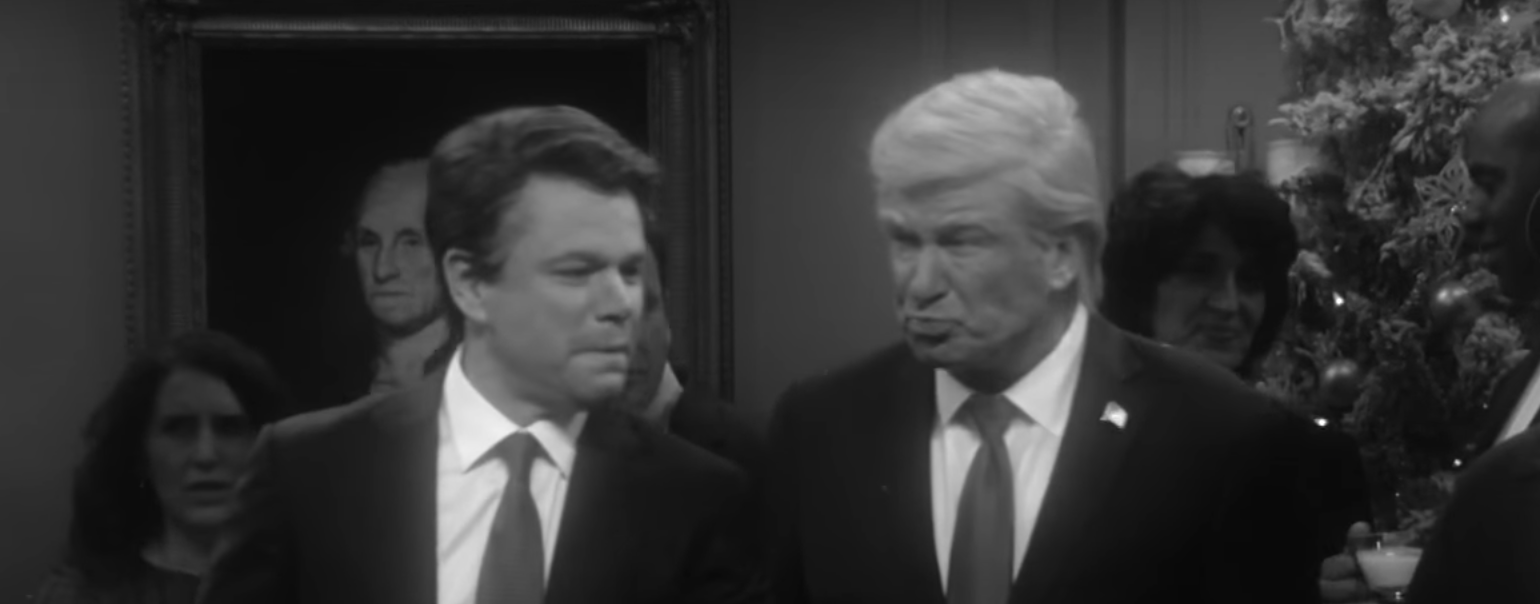 Matt Damon and Alec Baldwin skewer Trump on SATURDAY NIGHT LIVE (NBC)