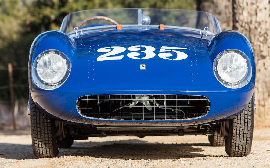 The 1954 Ferrari 500 Mondial Spider that was raced by Porfirio Rubirosa, John von Neumann, James Dean, and Phil Hill. (P. Litwinski)