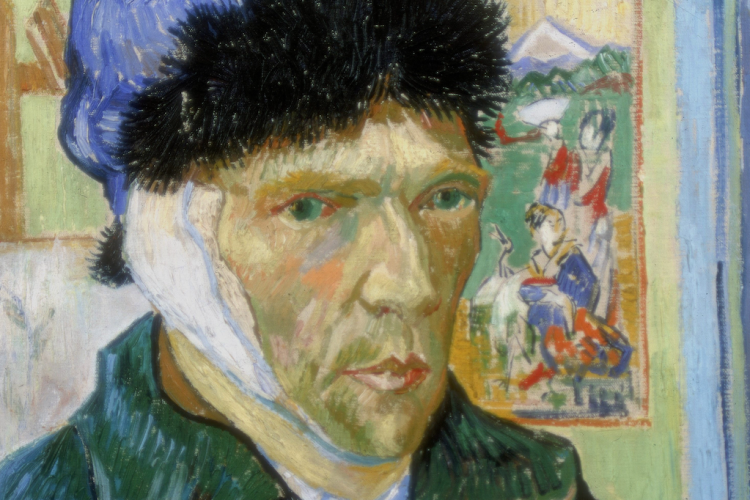 Self-Portrait with Bandaged Ear 1889. Vincent Van Gogh (1853-1890) Dutch Post-Impressionist artist. UNSPECIFIED - CIRCA 1754: Self-Portrait with Bandaged Ear 1889. Vincent Van Gogh (1853-1890) Dutch Post-Impressionist artist. (Photo by Universal History Archive/Getty Images)