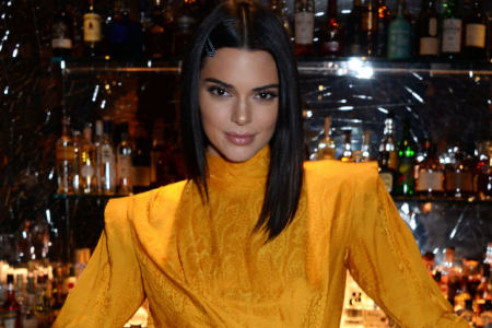 LONDON, ENGLAND - NOVEMBER 15: Kendall Jenner attends the Chaos SixtyNine Issue 2 launch party hosted by Charlotte Stockdale and Katie Lyall in The Baptist Bar at L'Oscar London on November 15, 2018 in London, Englan (Photo by David M. Benett/Dave Benett/Getty Images for Chaos SixtyNine)