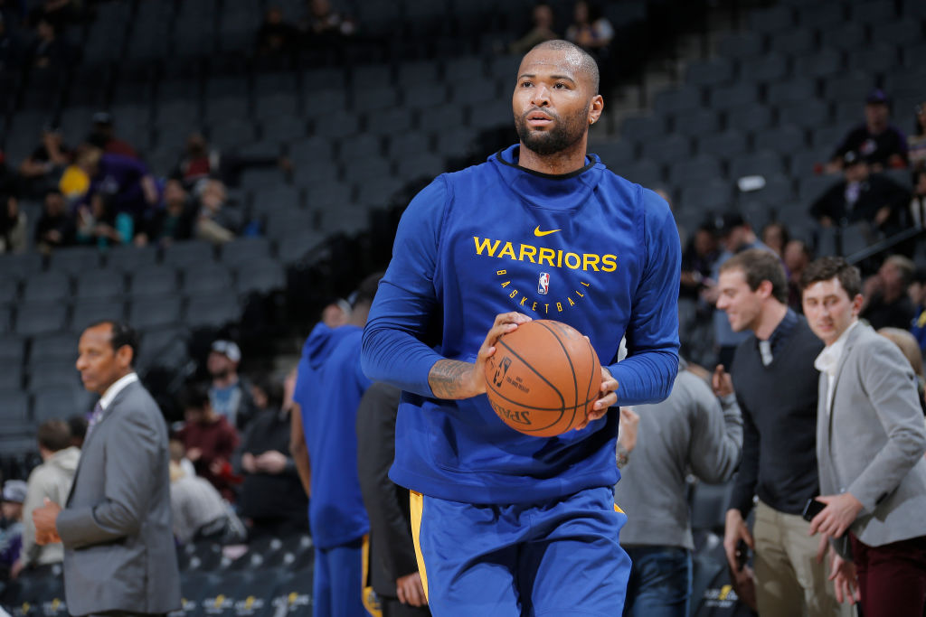 SACRAMENTO, CA - DECEMBER 14: DeMarcus Cousins #0 of the Golden State Warriors warms up against the Sacramento Kings on December 14, 2018 at Golden 1 Center in Sacramento, California. (Photo by Rocky Widner/NBAE via Getty Images)