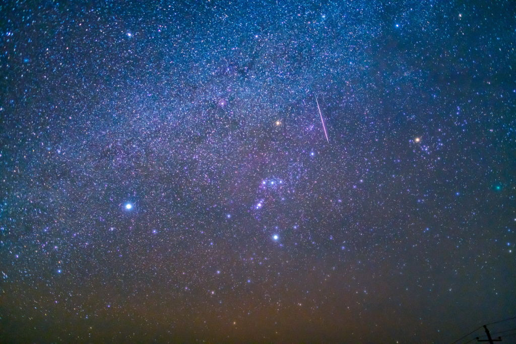 XILINGOL, CHINA - DECEMBER 14: Gemini meteor shower, Ming'antu Observatory, Xilingol, Inner Mongolia, China, December 14, 2018.PHOTOGRAPH BY Costfoto / Barcroft Images (Photo credit should read Costfoto / Barcroft Images / Barcroft Media via Getty Images)