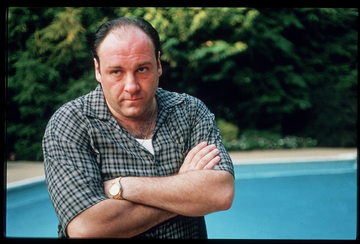 Actor James Gandolfini in scene from HBO TV drama series The Sopranos.  (Photo by Anthony Neste/The LIFE Images Collection/Getty Images)