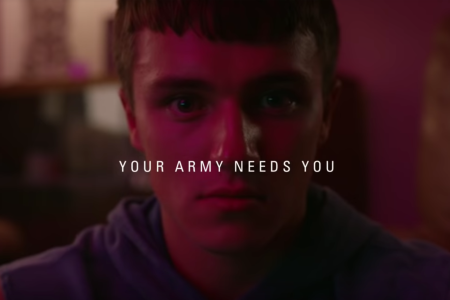 A screengrab from British Army recruitment ads targeted at millennials (YouTube)
