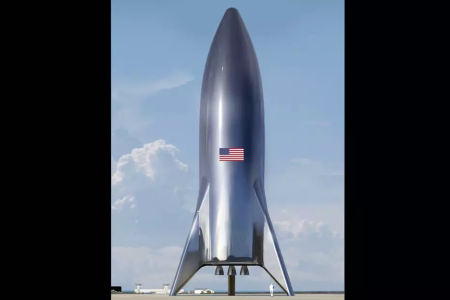 A photo of the assembledSpaceX Starship test vehicle.(Credit:Elon Musk (Twitter)