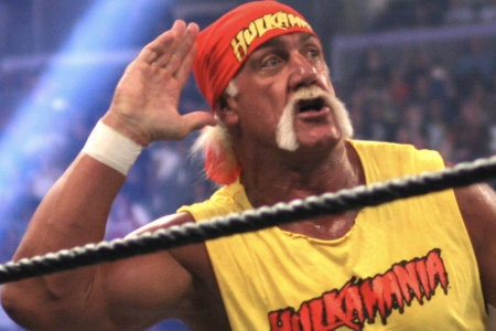 UNITED STATES - APRIL 03: Wrestle Mania 21 in Los Angeles, United States on April 03, 2005 - Hulk Hogan at Wrestle Mania 21 at Staples Center. (Photo by Mike FANOUS/Gamma-Rapho via Getty Images)