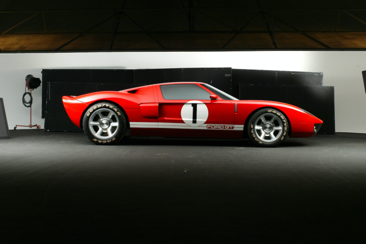 UNITED STATES - JUNE 01: Side view of red Ford GT 40 in the Detroit Studio.(Photo by John B. Carnett/Bonnier Corporation via Getty Images)
