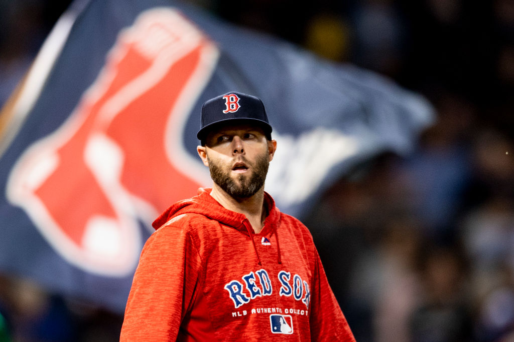 BOSTON, MA - SEPTEMBER 13: Dustin Pedroia #15 of the Boston Red Sox reacts after a game against the Toronto Blue Jays on September 13, 2018 at Fenway Park in Boston, Massachusetts. (Photo by Billie Weiss/Boston Red Sox/Getty Images)