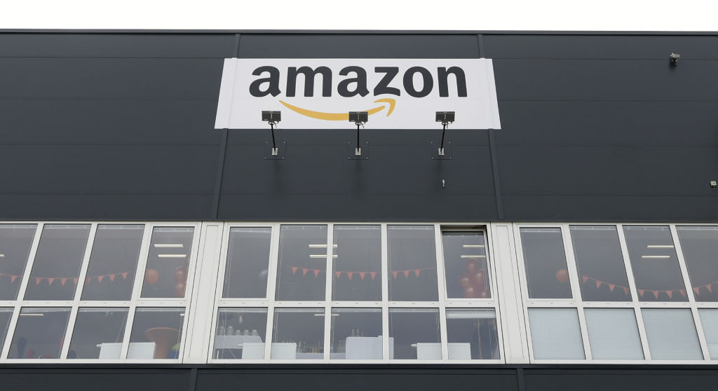 A picture taken on February 12, 2019 shows a view of a distribution center of US giant of online sales, Amazon in Grossebersdorf, Austria. (Photo by HANS KLAUS TECHT / APA / AFP) / Austria OUT        (Photo credit should read HANS KLAUS TECHT/AFP/Getty Images)