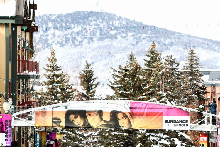 Festival signage is seen on Main Street during the 2019 Sundance Film Festival on January 25, 2019 in Park City, Utah. (Photo by Rich Fury/Getty Images,)