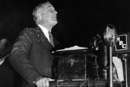Franklin Delano Roosevelt (1882 - 1945), the Democratic politician and 32nd President of the United States of America.   (Getty Images)
