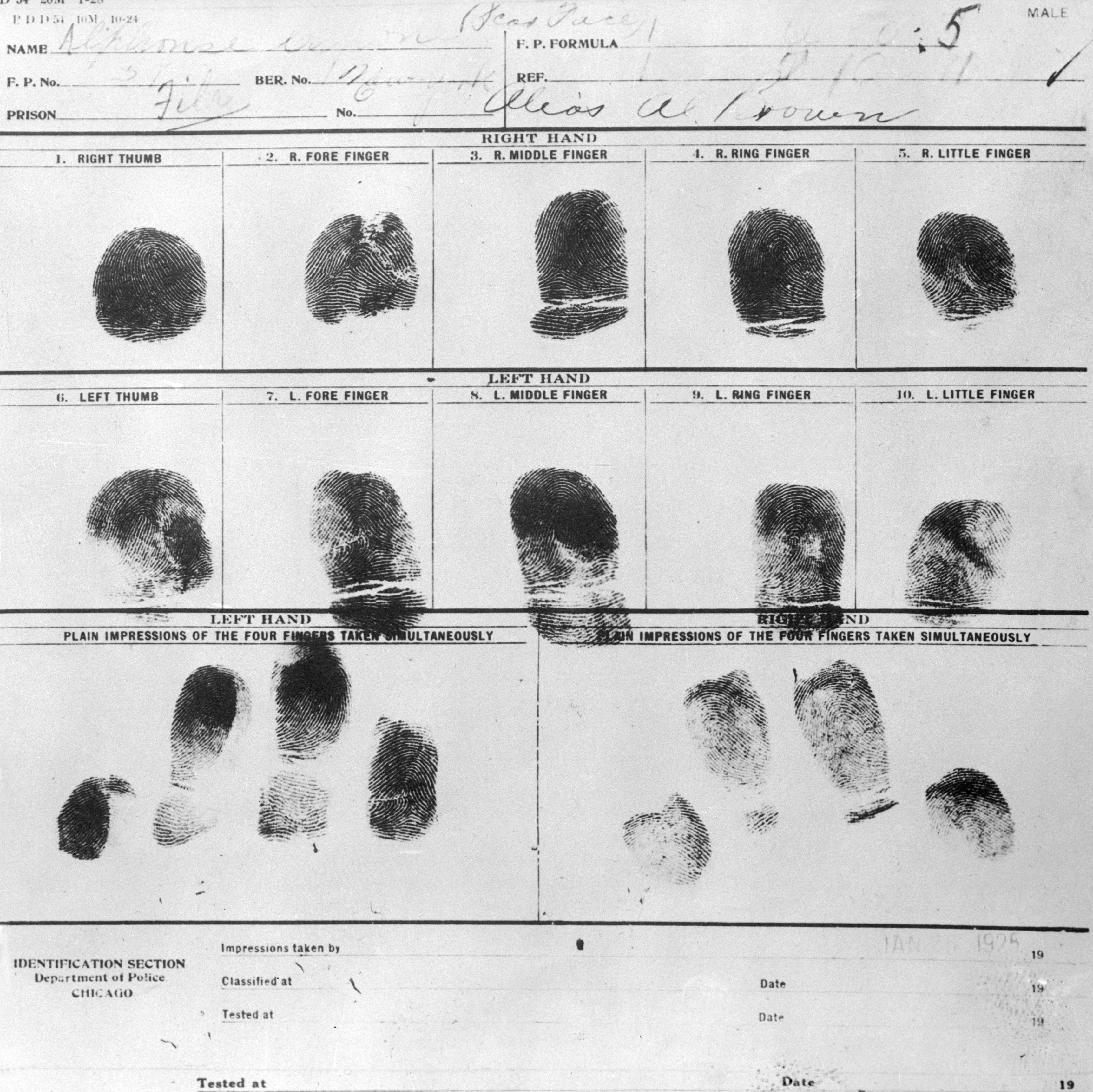 fingerprinting al capone