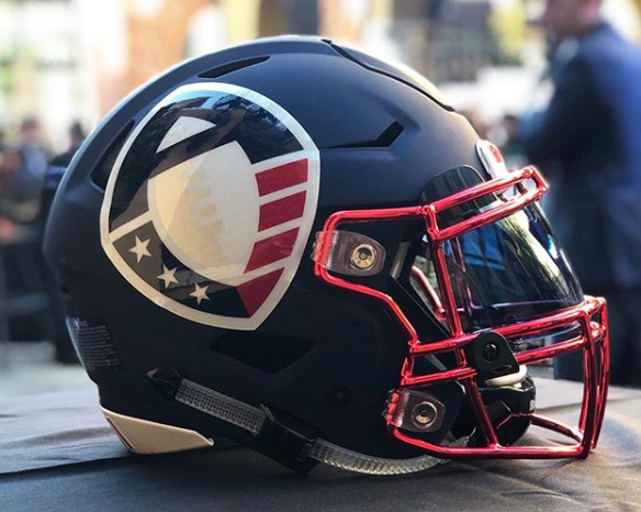 An Alliance of American Football helmet. (AAF via Instagram)