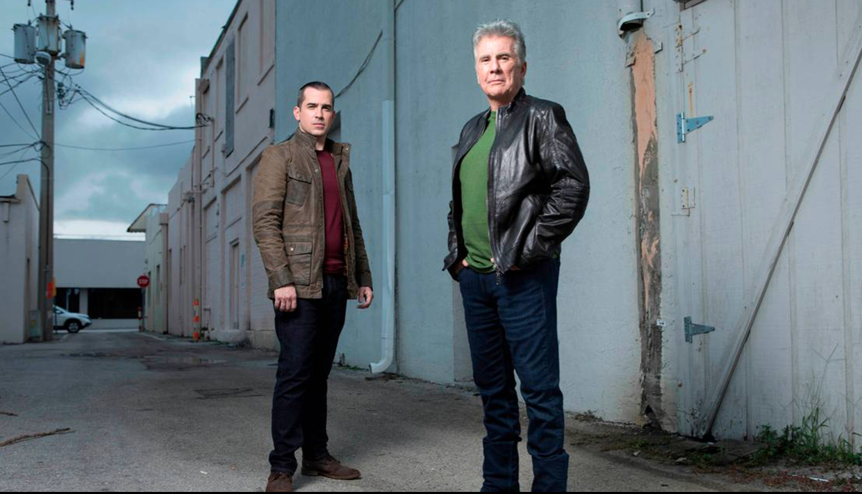 """John Walsh, right, in this imdb.com photo, with son Callahan, who costar in """"In Pursuit with John Walsh."""""""