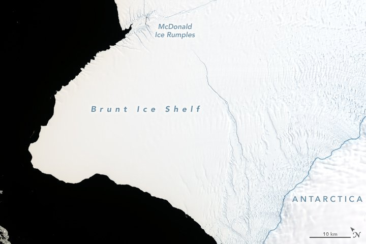 iceberg antarctica NASA