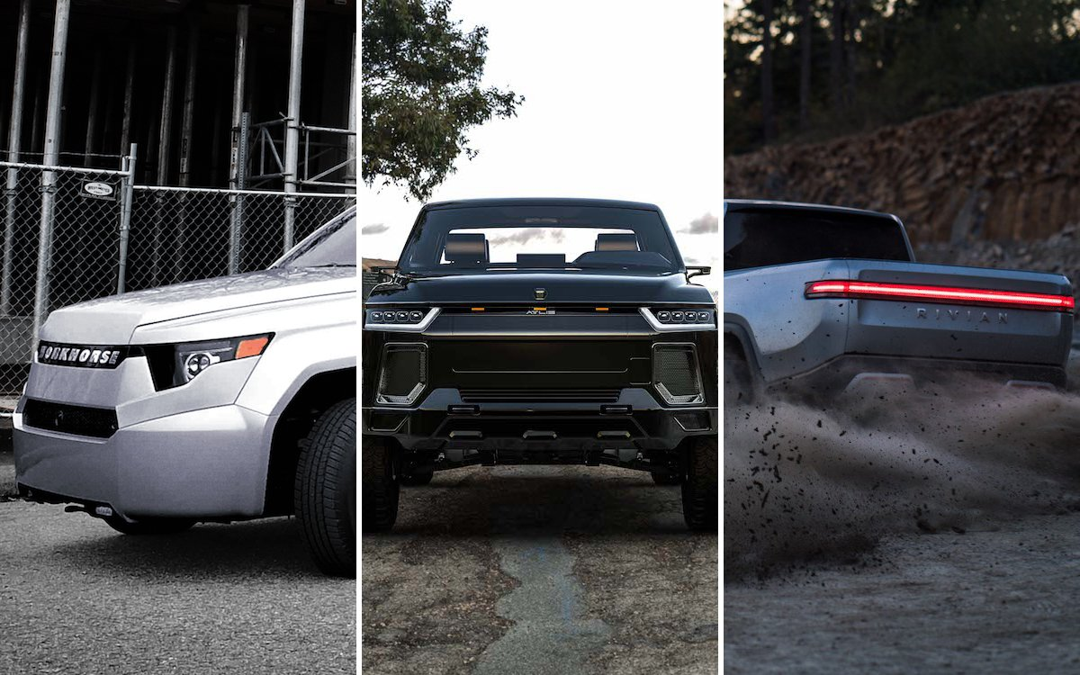 Ford, Bollinger, Workhorse, Tesla, Atlis Motor Vehicles, Rivian, electric pickup trucks