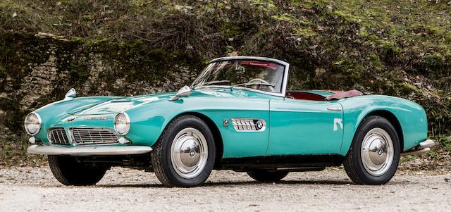 The BMW 507 roadster which was owned by Count Albrecht Graf von Goertz. (Bonhams)