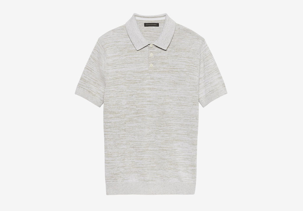 COTTON-LINEN TWO-TONE SWEATER POLO Banana Republic Cotton Freshen Up: Chivalry