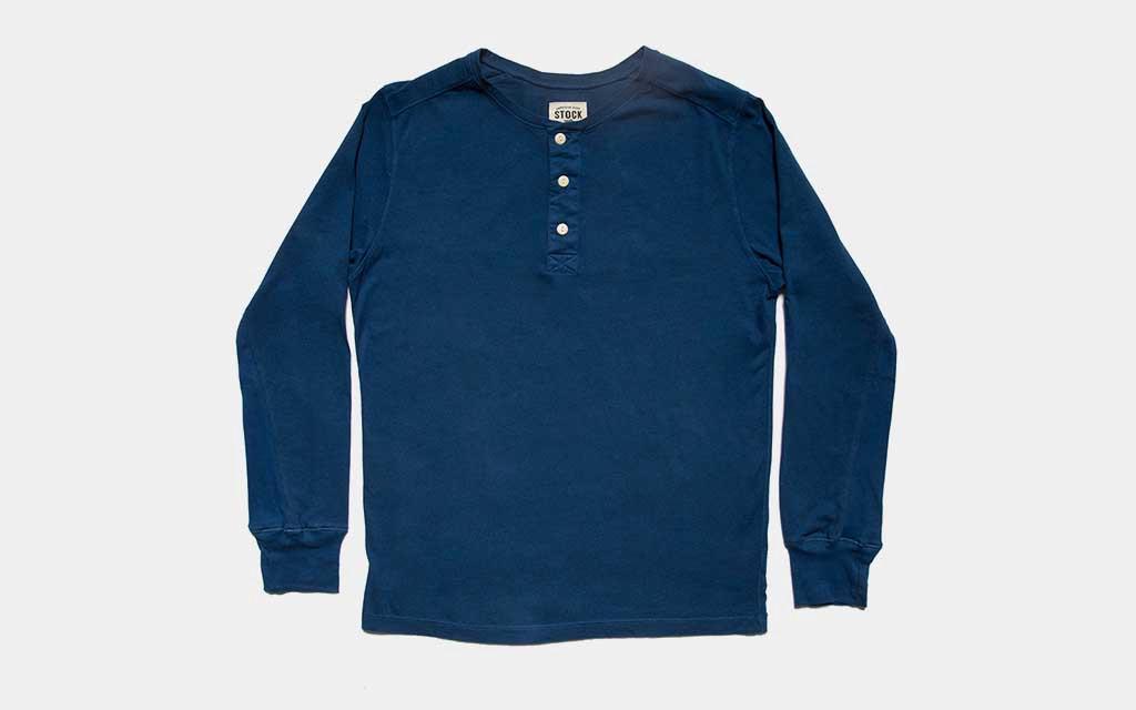 Stock Mfg Co. Cobalt Long Sleeve Henley