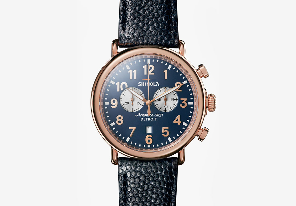 RUNWELL CHRONO 47mm Shinola Cotton Freshen Up: Chivalry
