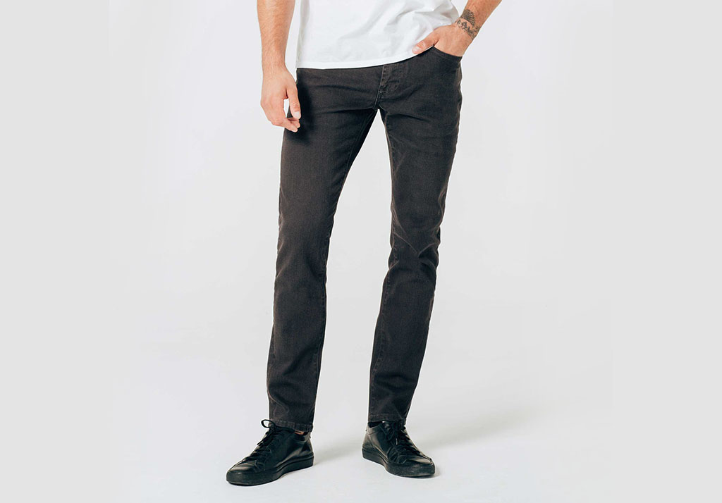 SKINNY SLIM STRETCH DENIM JEANS IN CHARCOAL DSTLD Cotton Freshen Up: Chivalry