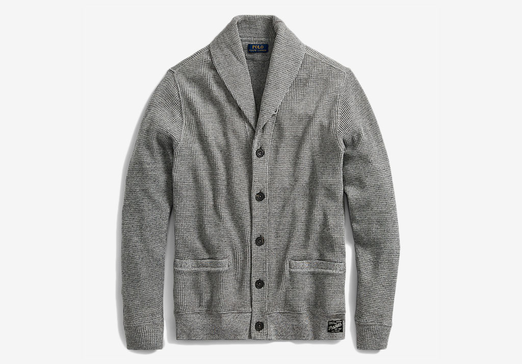 WAFFLE-KNIT COTTON CARDIGAN Ralph Lauren Cotton Freshen Up: Chivalry