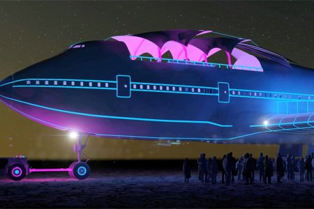 Inside the Gutted Boeing 747 That Just Landed at Burning Man