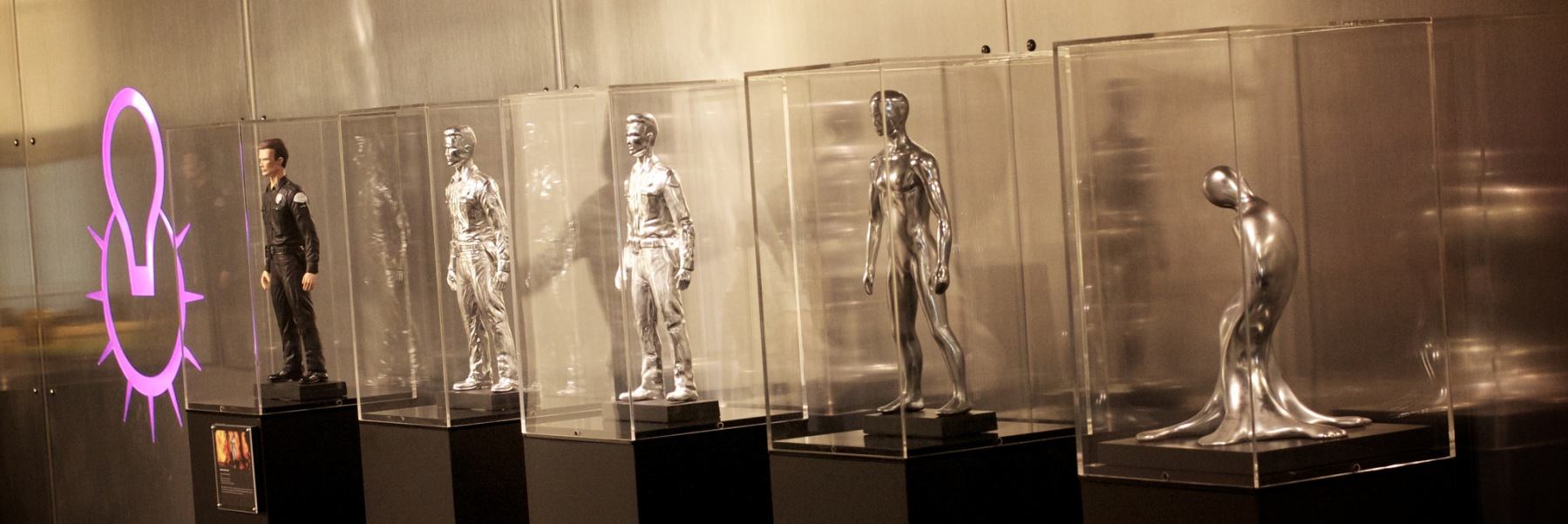 """Phases of the T-1000 Terminator from the """"Terminator 2"""" movie. (Photo credit: Flickr, Marcin Wichary)"""