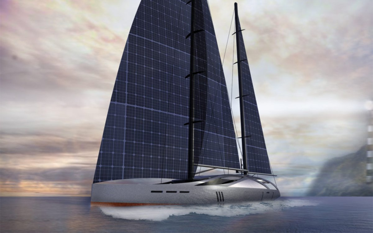 This Sailboat Is Solar-Powered. Yes, Solar-Powered.