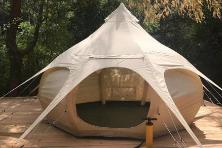 An Inflatable Yurt to Keep Other Campers Guessing