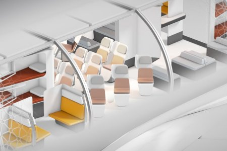 Airbus Just Designed a Plane With Workspaces and Lie-Flat Beds … in Economy