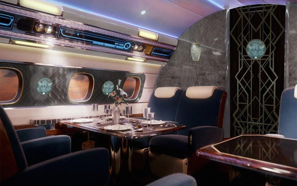 Ever Wonder What an $80M Flying Speakeasy Looks Like?